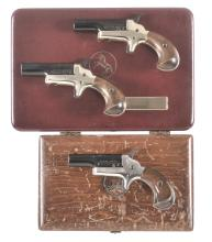 Three Cased Colt Derringers