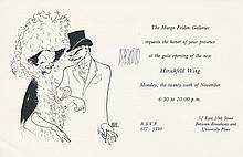 Al Hirschfeld Autographed Gallery Invitation