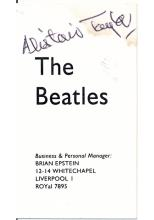 Beatles - Brian Epstein - The Beatles Business Card - Autographed by his assistant Alistair Taylor