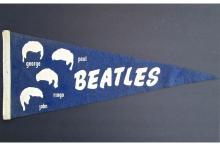 Beatles - 1964 Blue Felt Pennant