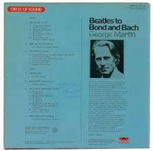 Beatles - George Martin - Autographed Beatles To Bond And Bach Album