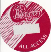 Chicago - North America Tour - 1987 Backstage Pass