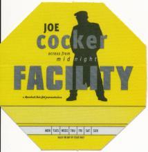 Joe Cocker - Across from Midnight Tour - 1997 Backstage Pass