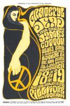 Grateful Dead - James Cotton Blues Band - Fillmore - BG 38 - 1966 Concert Postcard/Handbill