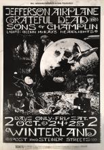 Grateful Dead - Winterland - BG 197 - 1969 Concert Poster