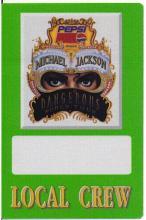 Michael Jackson - Dangerous World Tour - 1992 Backstage Pass