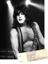 KISS - Paul Stanley Autographed Theater Ticket