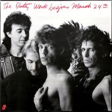 The Rolling Stones - Dirty Work - 1986 Advance Release Promotional Poster