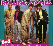 The Rolling Stones - Steel Wheels World Tour - 1990 Concert Poster