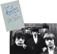 The Rolling Stones - Brian Jones - Bill Wyman - Autograph