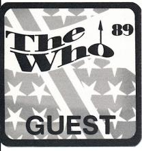 The Who - 25th Anniversary World Tour - 1989 Backstage Pass