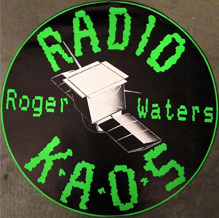 Roger waters radio kaos 1987 promotional music poster for 1987 house music