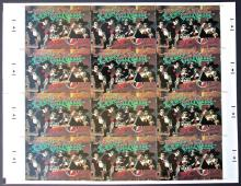 Grateful Dead - Peace On Earth - Christmas Postcard - 1986 Uncut Sheet