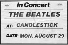 Beatles - Candlestick Park - Concert Banner