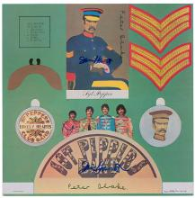Beatles - Peter Blake & Jann Haworth - Autographed Sgt. Pepper's Lonely Hearts Club Band, Cut-out Inner Sleeve
