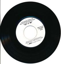 Beatles - Dialogue From The Beatles Motion Picture Let It Be - Apple Records - Promotional 45