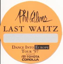 Phil Collins - Dance Into Europe Tour - 1997 Backstage Pass