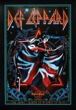 Def Leppard - Hard Rock Residency - 2013 Concert Poster