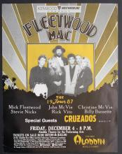Fleetwood Mac - Shake The Cage Tour - Aladdin Hotel - 1987 Concert Poster