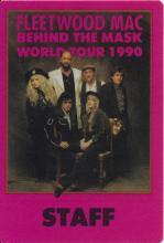 Fleetwood Mac - Behind The Mask World Tour - 1990 Backstage Pass