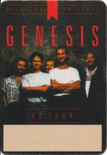 Genesis - Invisible Touch Tour - 1987 Backstage Pass