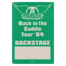 Aerosmith - Back in the Saddle Tour - 1984 Backstage Pass