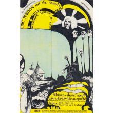 Eric Burdon & The Animals  - 1968 Fillmore Handbill