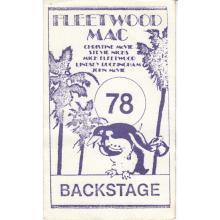 Fleetwood Mac - Rumours Tour - 1978 Backstage Pass