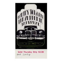 Led Zeppelin - Fillmore - 1969 Vintage Concert Ticket