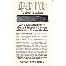 Led Zeppelin - 1977 Vintage Concert Ticket Order Form
