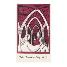 Pink Floyd - Richie Havens - 1967 Vintage Concert Ticket
