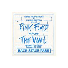 Pink Floyd - The Wall Tour - 1980 Backstage Pass