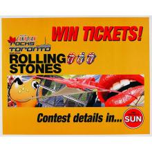 The Rolling Stones - Canadian Rock Festival Poster