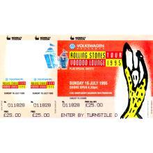 The Rolling Stones - Voodoo Lounge - 1995 Vintage Concert Ticket