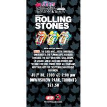 The Rolling Stones - 2003 Vintage Concert Ticket