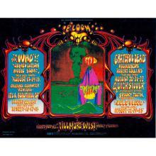 The Who - Grateful Dead - 1968 Fillmore Handbill