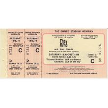 The Who - 1979 Vintage Concert Ticket