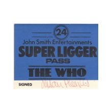 The Who - 1975 Backstage Pass