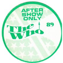 The Who - 1989 Backstage Pass