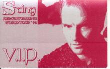 Sting 1996 'Mercury Falling World Tour' Unused Backstage Passes
