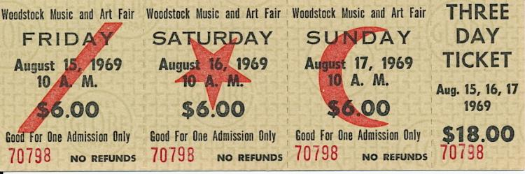 woodstock festival and ticket booths In 1969 at bethel, new york, the woodstock music and art fair was three day festival that was all about peace, love, understanding, music, and serious partying.