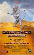 Rolling Stones poster - Bridges To Babylon Tour - Lion - Large Adshel format