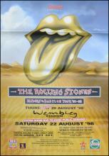 Rolling Stones poster - Bridges To Babylon Tour - Lips - Large Adshel format
