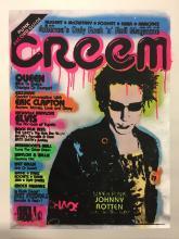 Shane Bowden silk screen canvas - Johnny Rotten