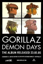 Gorillaz poster - Demon Days