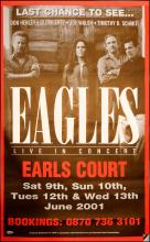 The Eagles poster - Earls Court - Large Adshel poster