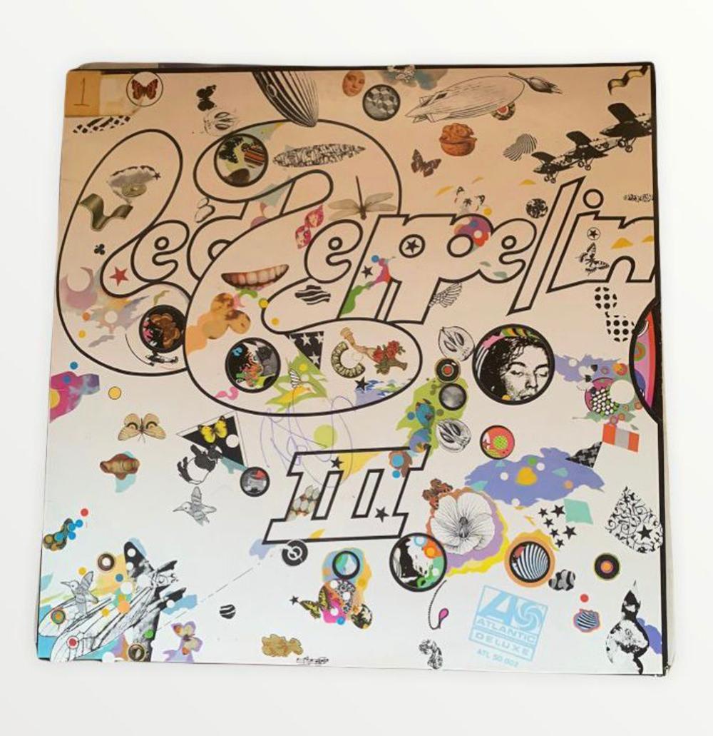 Led Zeppelin III Signed Vinyl LP Certified