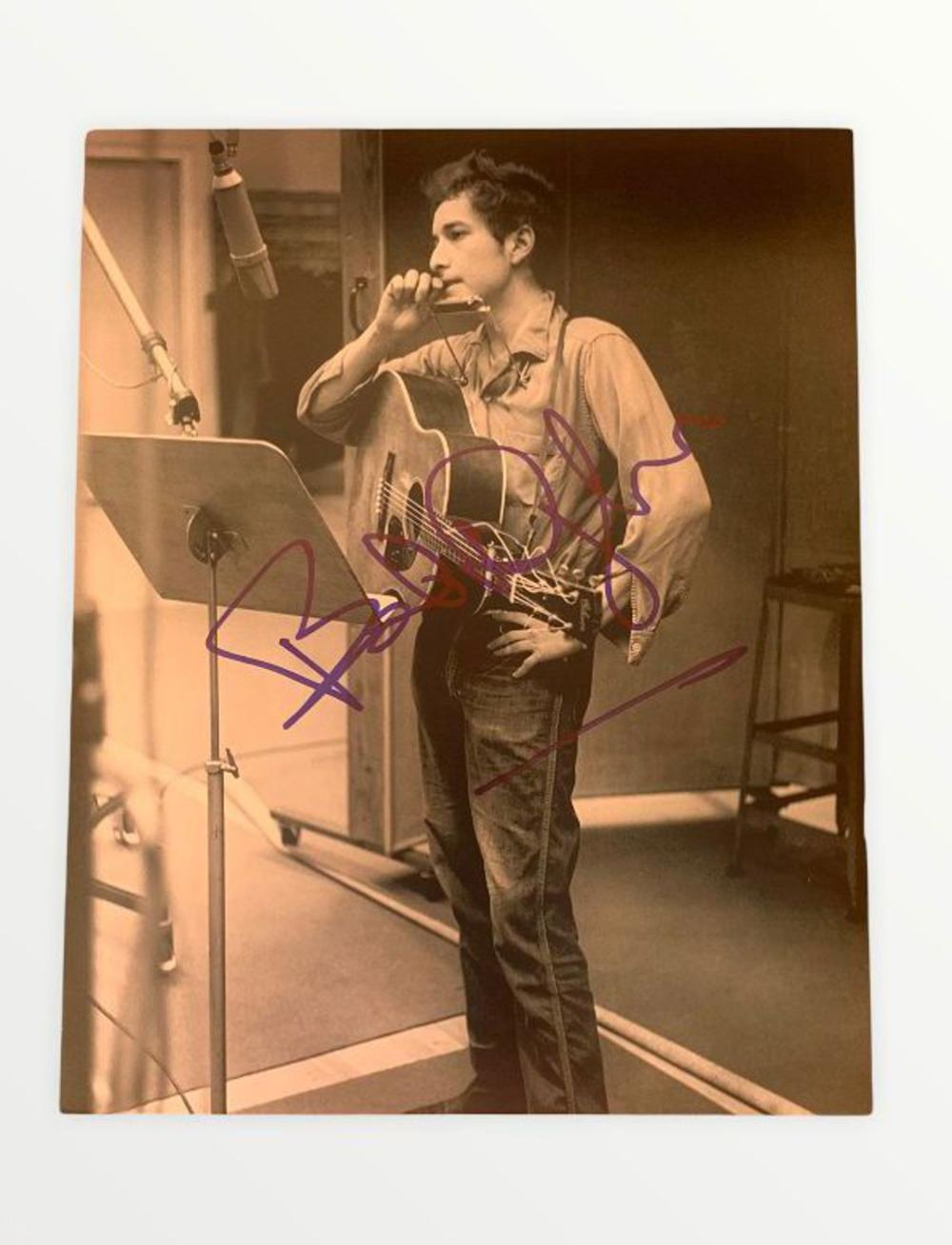 Bob Dylan Signed Photograph Certified