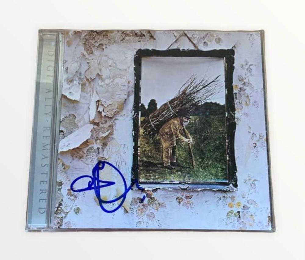 Robert Plant Signed Led Zeppelin IV CD Certified