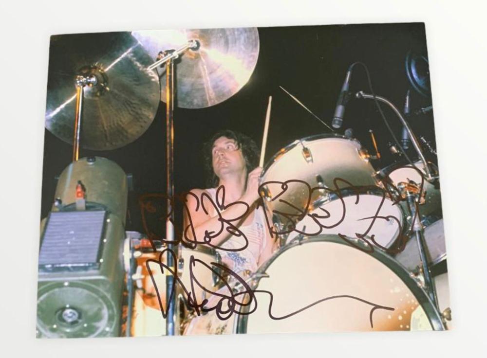 Pink Floyd Nick Mason Signed Photograph Certified